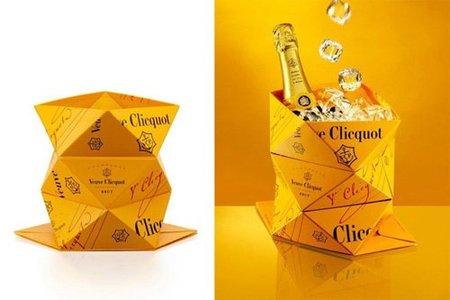 Veuve Clicquot Clicq'Up, una champañera plegable inspirada en el arte del origami