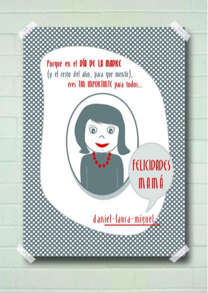 ¿Un regalo personalizado para el Día de la Madre?: las láminas que felicitan a la mujer más importante en la vida de los niños