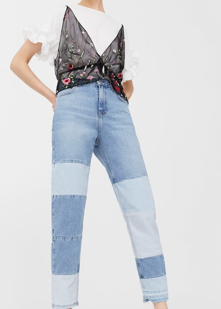 vaqueros denim jeans bicolor tendencia