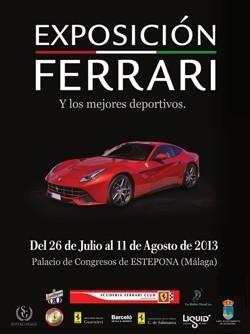 Cartel Exposición Ferrari Estepona 2013