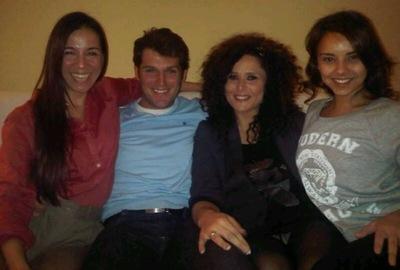 Rosa López con bragas y a lo loco en una reunión de ex-triunfitos