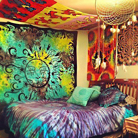 17 ideas para decorar tu dormitorio con estilo hippie for Muebles hippies
