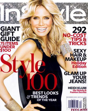 Heidi Klum portada de In Style