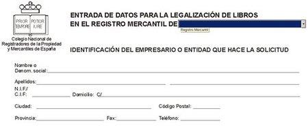 Legalización telemática de libros en el Registro Mercantil