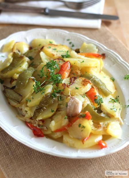 Patatas A Lo Escaso Fórmula Tradicional Receta Patatas A Lo Pobre En Sarten