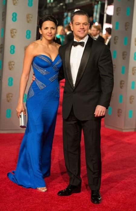 Matt Damon y su señora