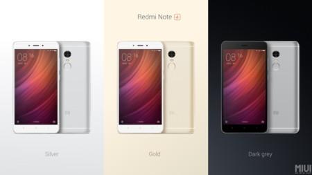 Xiaomi Redmi Note 4 Colores