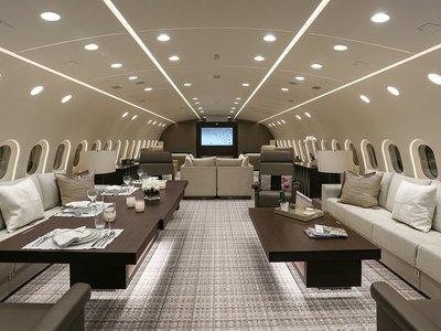 Esta compañía transforma Boeings 787 en hoteles de lujo volantes