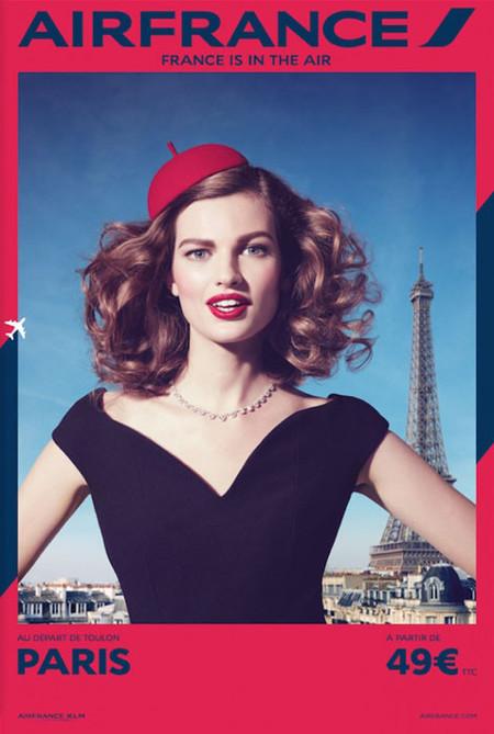 Air France apuesta por una campaña de estilo retro en la que sólo aparecen mujeres