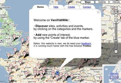 VeniVidiWiki, mashup de guía turística y Google Maps