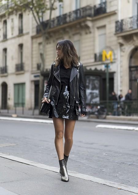 Mini Falda Cuero 5