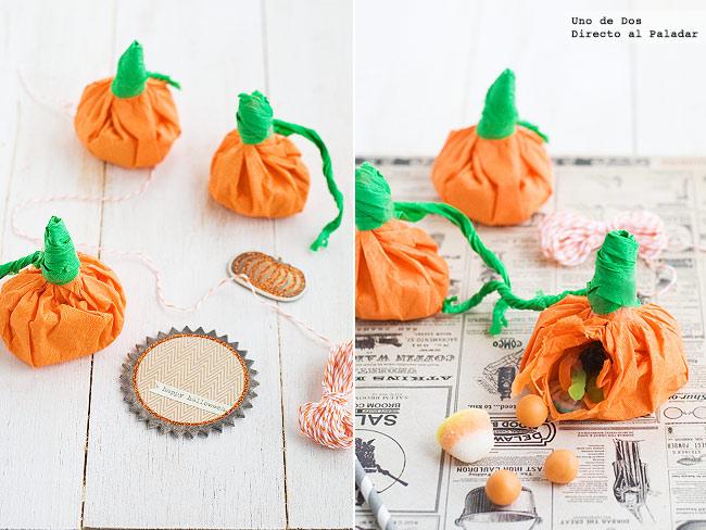 C mo hacer calabacitas de papel rellenas para halloween - Ideas para hacer en halloween ...