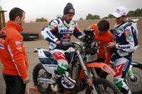 Marc Coma y Joan Pedrero preparan el Dakar 2012