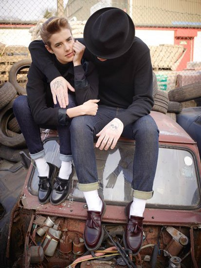 London, tattoos, piel: Dr. Martens