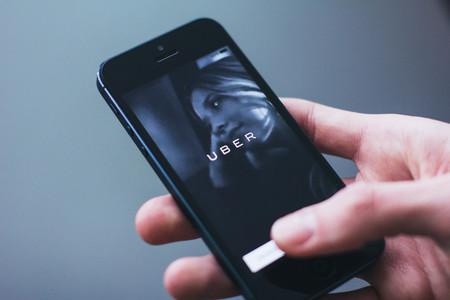 Aplicación de Uber en un teléfono