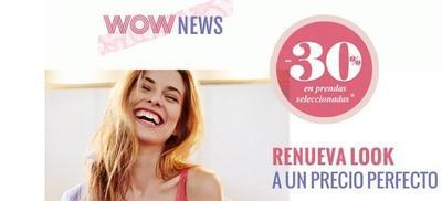 Descuento de un 30 % en lo recién llegado de women'secret