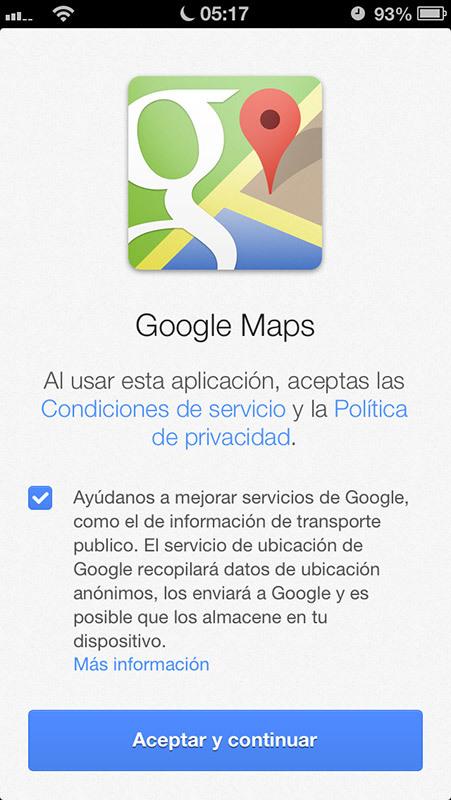 Foto de Google Maps para iPhone (1/10)
