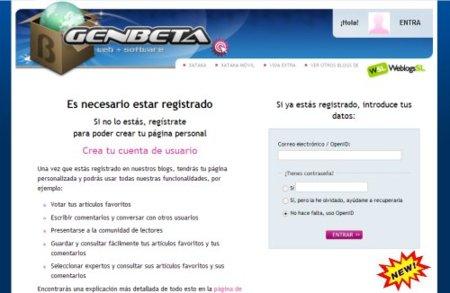 Nuevo Registro de Usuarios en Genbeta
