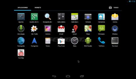 Android-x86 4.3, aplicaciones por defecto