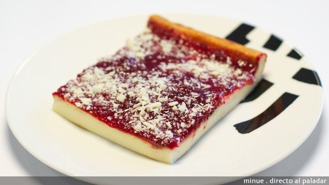 Clásica tarta de queso - presentacion