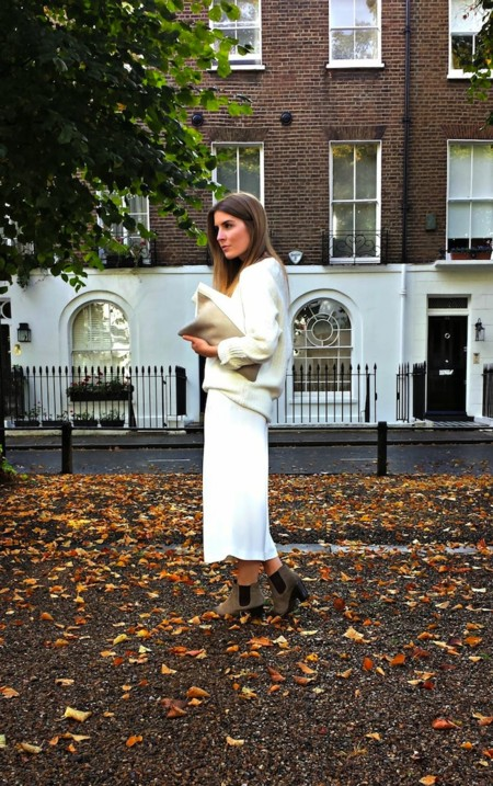 Outfit Ankle Boots Culottes Jumper