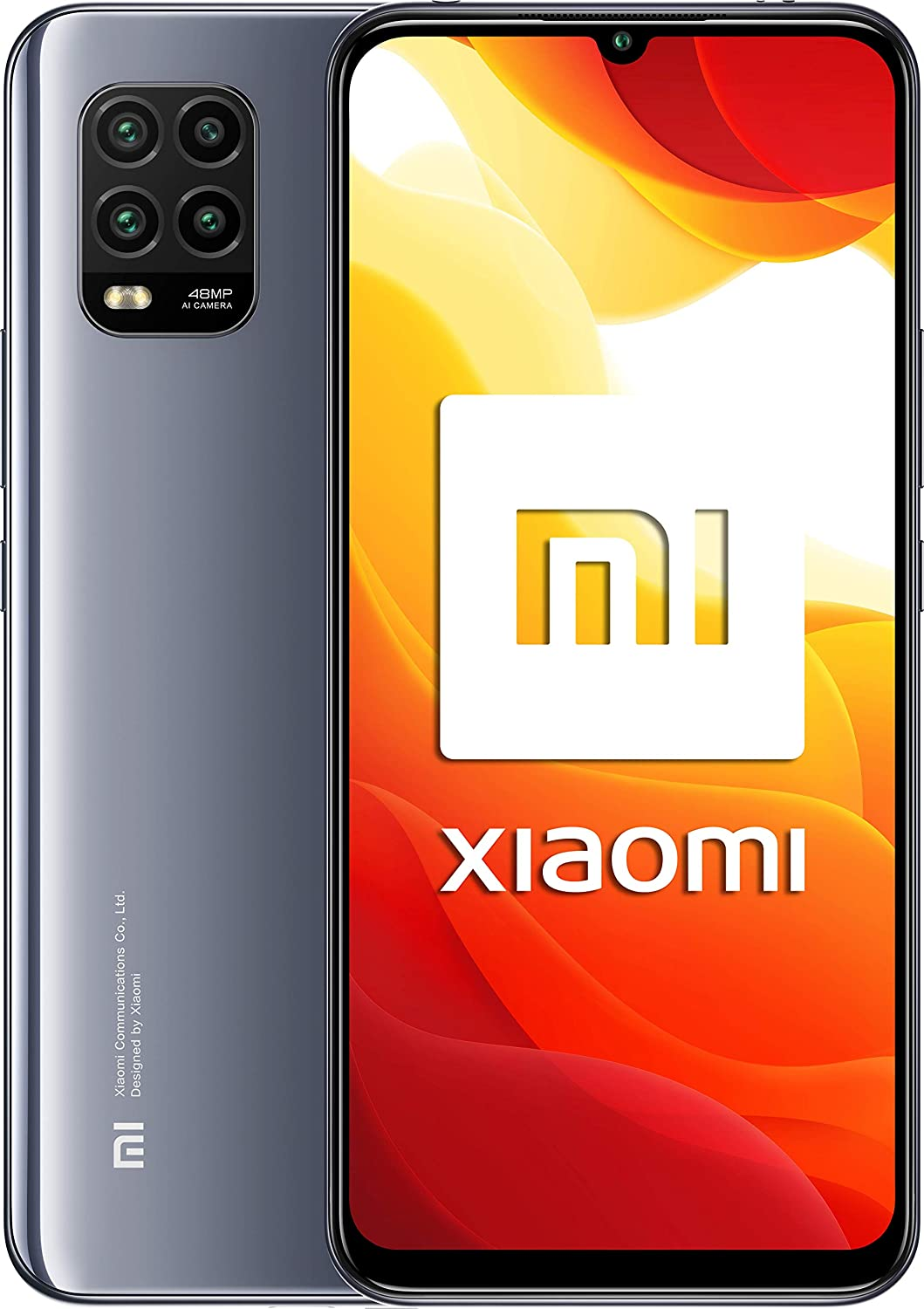 """Xiaomi Mi 10 Lite 5G (6.57 """"AMOLED Screen, TrueColor, 6GB + 128GB, 48MP Camera, Snapdragon 765G, 4160mah with 20W Charge, Android 10) Gray"""