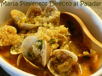 Sopa de quinoa con almejas receta for Cocinar quinoa negra