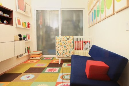 Dormitorio infantil retro.