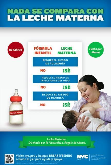 Campaña lactancia Nueva York