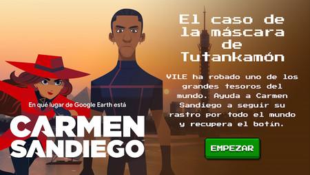 Carmen Sandiego estrena nuevo minijuego en Google Earth: 'El caso de la máscara de Tutankamón'