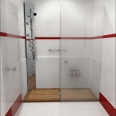 ¿Tarima en la ducha?