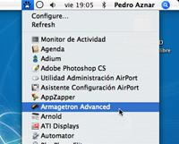 TigerLaunch: Lista en la barra superior con tus aplicaciones