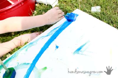 DIY: Dibujando con pintura congelada