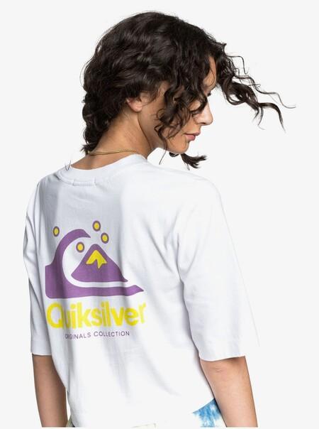Camiseta Crop Holgada Con Manga Media Para Mujer