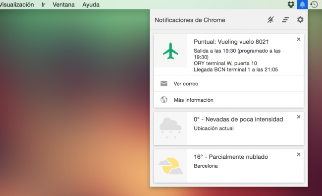 Cómo quitar el icono de notificaciones de Chrome