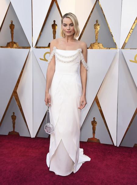Alfombra Roja Oscar 2018 Margot Robbie Chanel