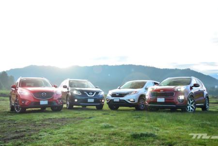 Comparativa: KIA Sportage vs Mazda CX-5 vs Honda CR-V vs Nissan X-Trail (I)