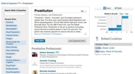 LinkedIn actualiza su acuerdo de usuario y deja de permitir la prostitución como actividad profesional