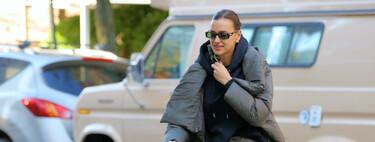 Irina Shayk nos recuerda las mil y una posibilidades del estampado militar, cinco prendas para emular su último look