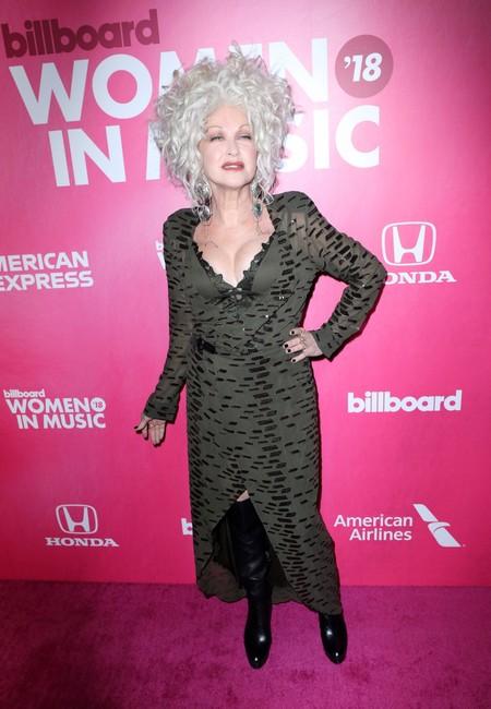 Cyndi Lauper red carpet billboard