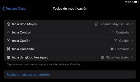cambiar tecla esc iPad iPadOS