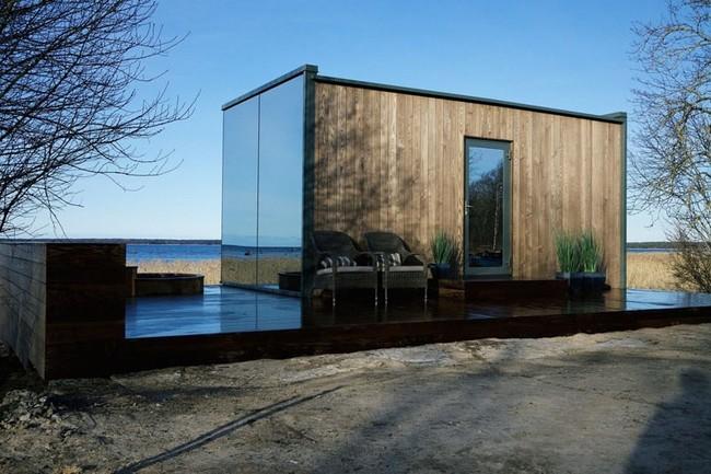 Mirrored Prefab Cabin Architecture 220617 114 02