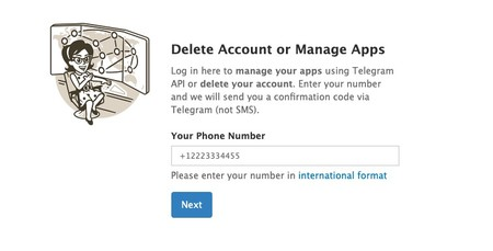 Cómo borrar tu cuenta de Telegram inmediatamente: paso 1