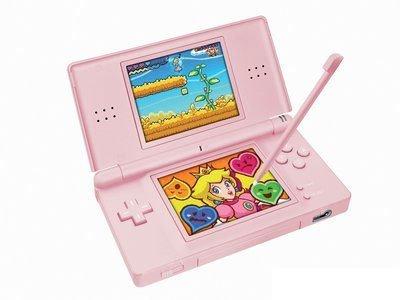 Nintendo DS Lite de color rosa en camino