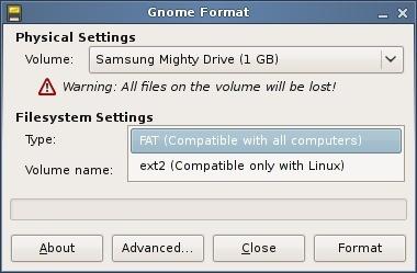 Gnome Format: nueva herramienta para formatear dispositivos en Gnome