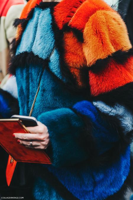 Pfw Paris Fashion Week Fall 2016 Street Style Collage Vintage Miu Miu Fur Coat