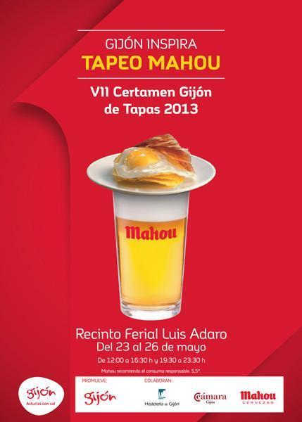 Cartel Gijón Tapeo Mahou