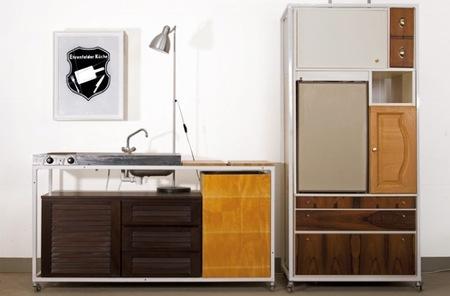Recicladecoración: una cocina hecha con trozos de otros muebles