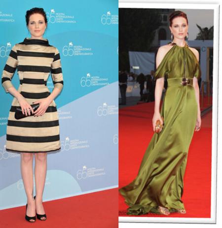 Rachel Evan Wood en la alfombra roja del Festival de Venecia