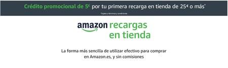 5 euros gratis en Amazon al recargar 25 euros o más